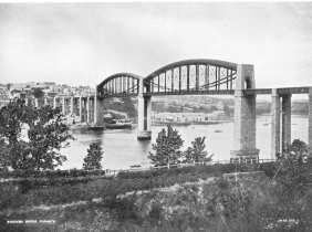 The Royal Albert Bridge at the turn of the last century