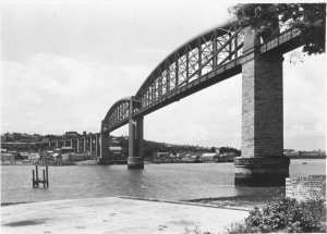 The Royal Albert Bridge in the 1950s