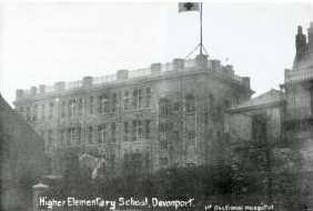 Stoke Public Higher Elementary School in use as a hospital during the First World War.